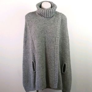 Soft Surroundings Hudson Gray Pullover Knit Poncho